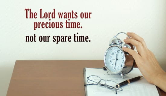 The Lord wants your Precious Time ecard, online card
