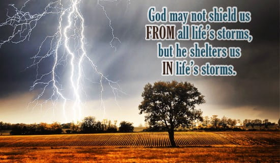 Shelter in Life's Storms ecard, online card