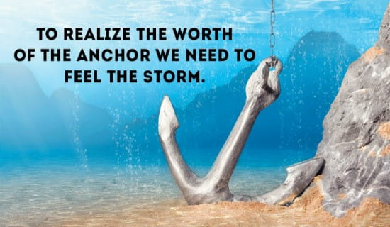 Anchor in a Storm ecard, online card