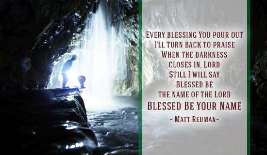 Blessed Be Your Name ecard, online card