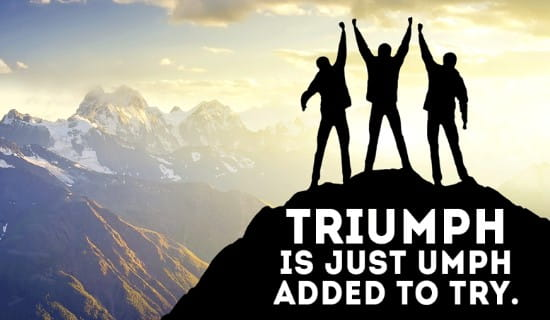 Triumph ecard, online card