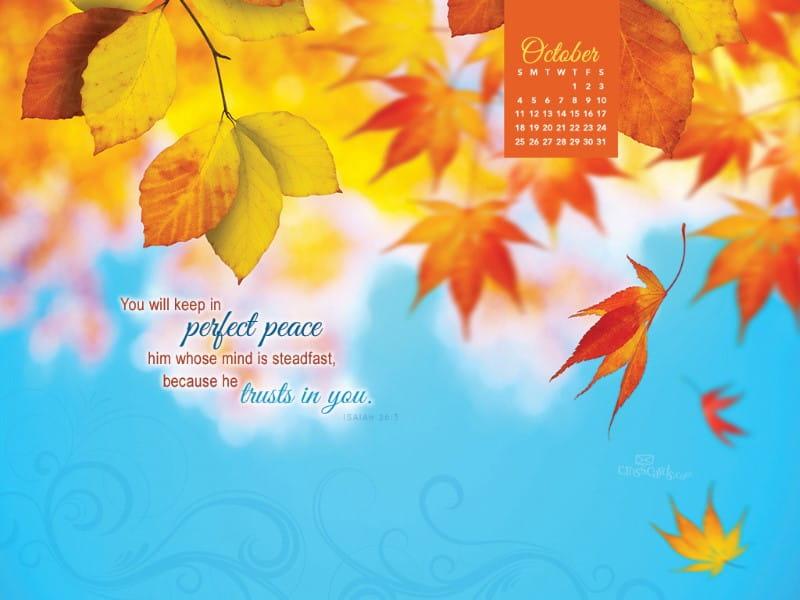 October 2015 - Perfect Peace mobile phone wallpaper
