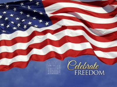 July 2015 - Celebrate Freedom mobile phone wallpaper