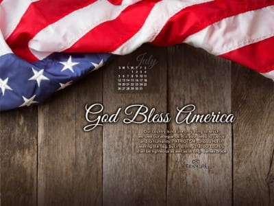 July 2015 - God Bless America mobile phone wallpaper