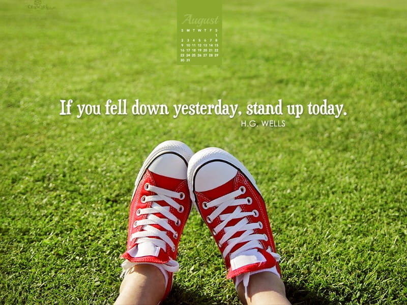 August 2015 - Stand Up Today mobile phone wallpaper