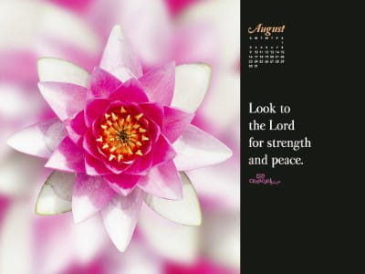 August 2015 - Look to the Lord mobile phone wallpaper