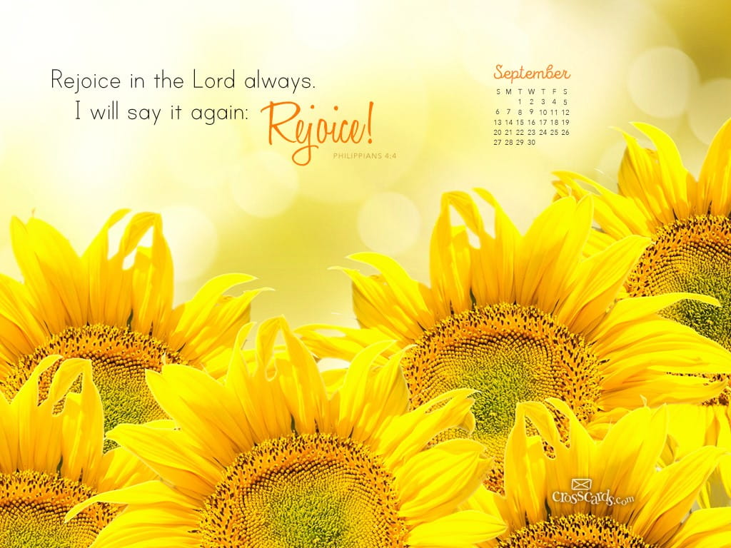 September 2015 Philippians 4 4 Desktop Calendar Free September