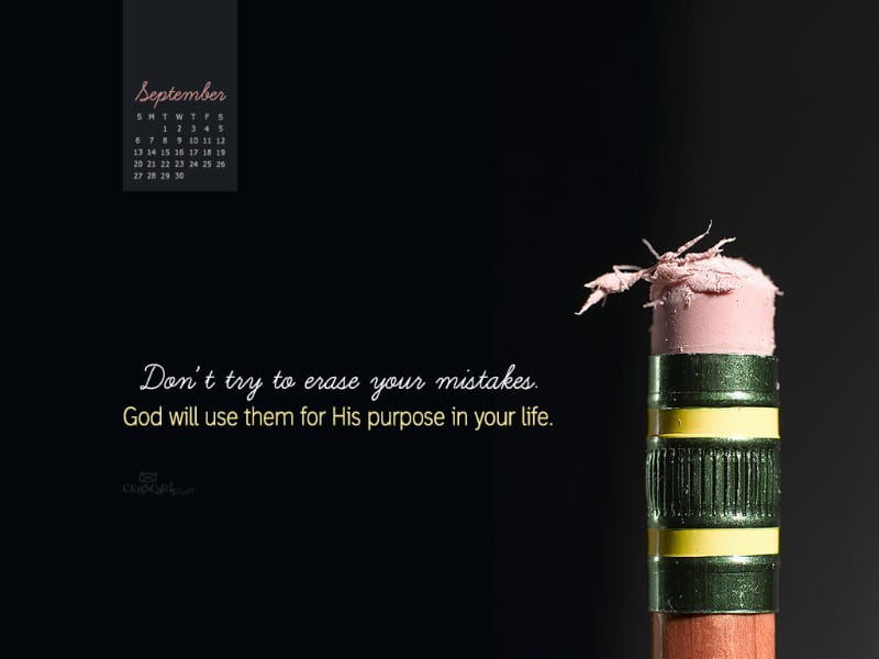 September 2015 - God's Purpose mobile phone wallpaper