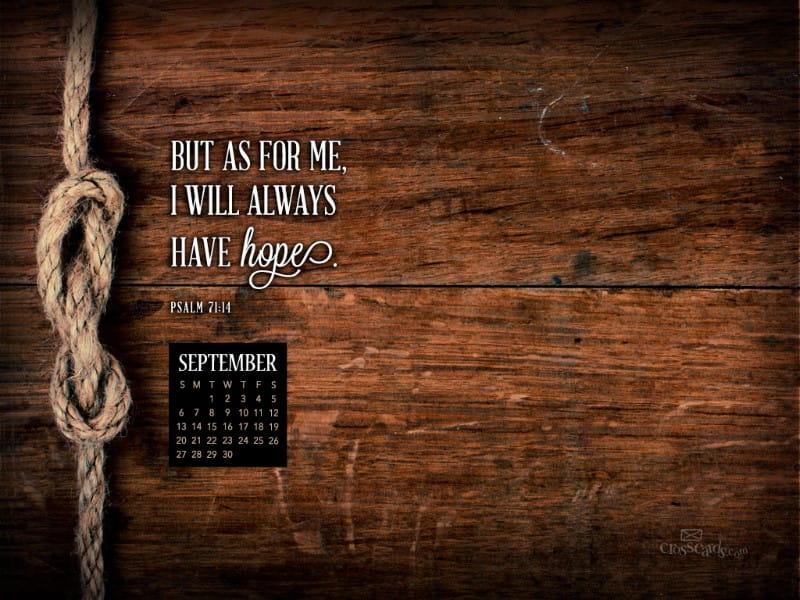 September 2015 - Psalm 71:14 mobile phone wallpaper