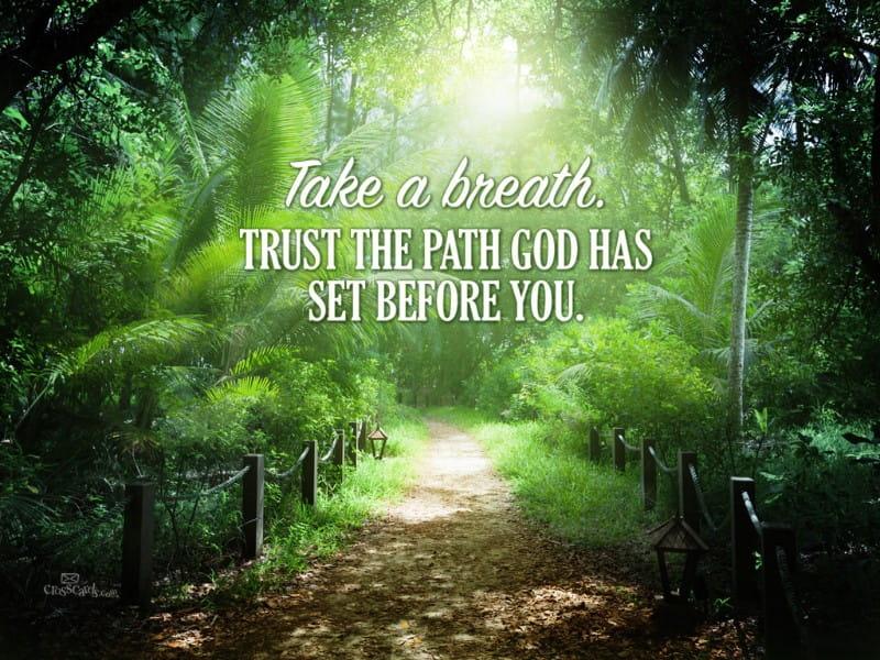 Trust God's Path mobile phone wallpaper