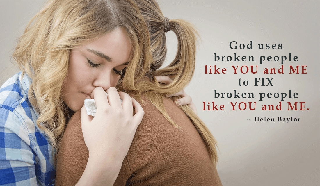 God Uses Broken People ecard, online card