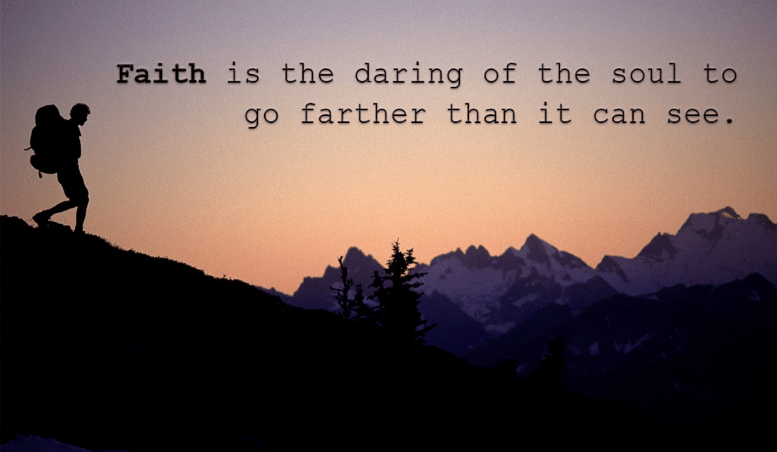 Faith is the Daring of the Soul ecard, online card
