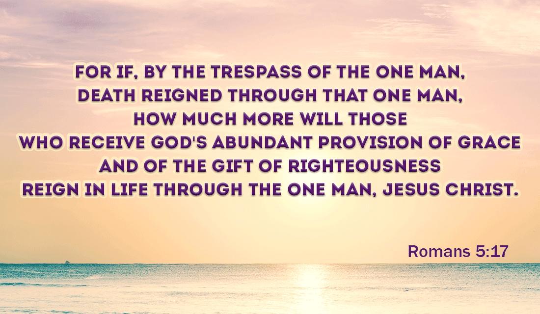 Romans 5:17 ecard, online card