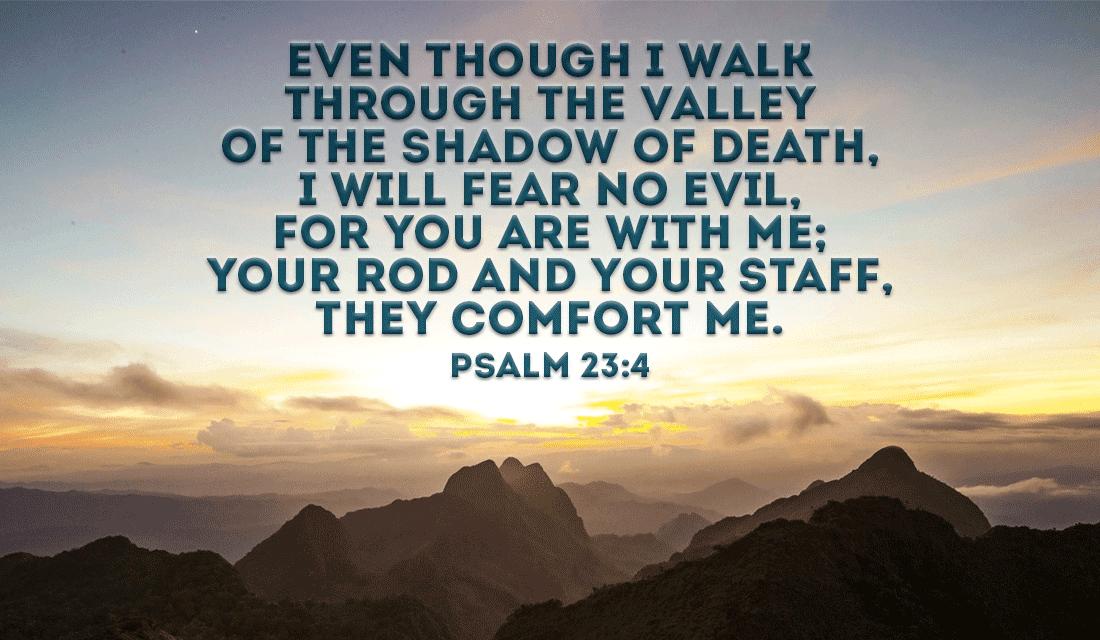 Psalm 23:4 ecard, online card