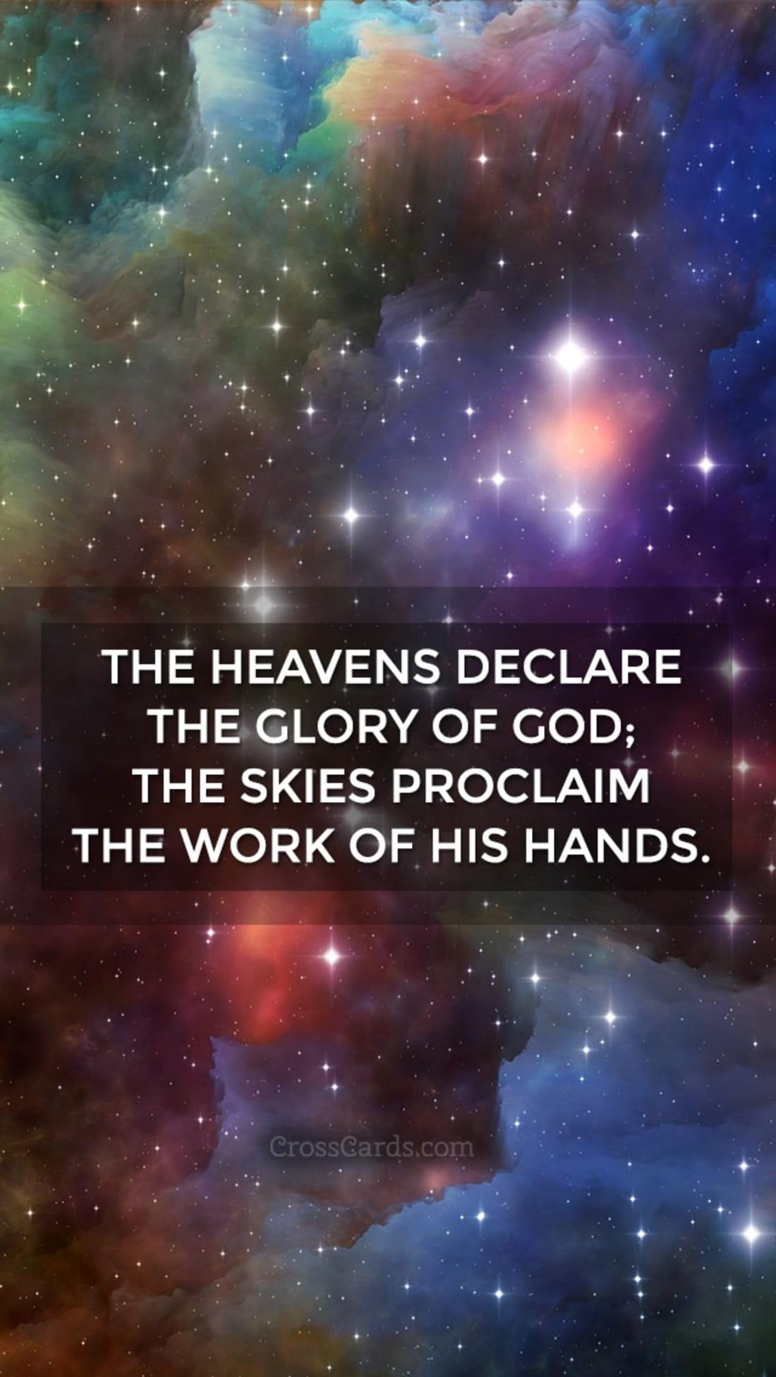 Heavens Declare mobile phone wallpaper