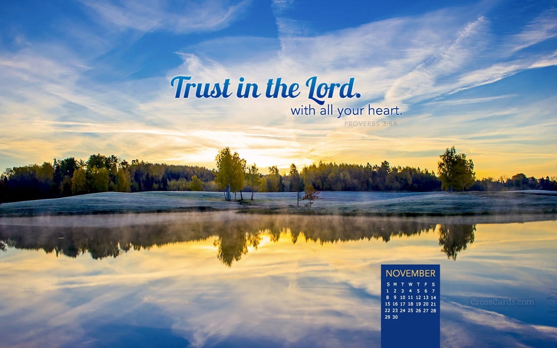 November 2015 - Trust in the Lord mobile phone wallpaper
