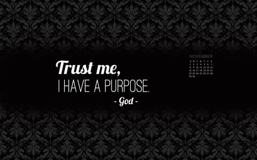 November 2015 - Trust God's Purpose mobile phone wallpaper