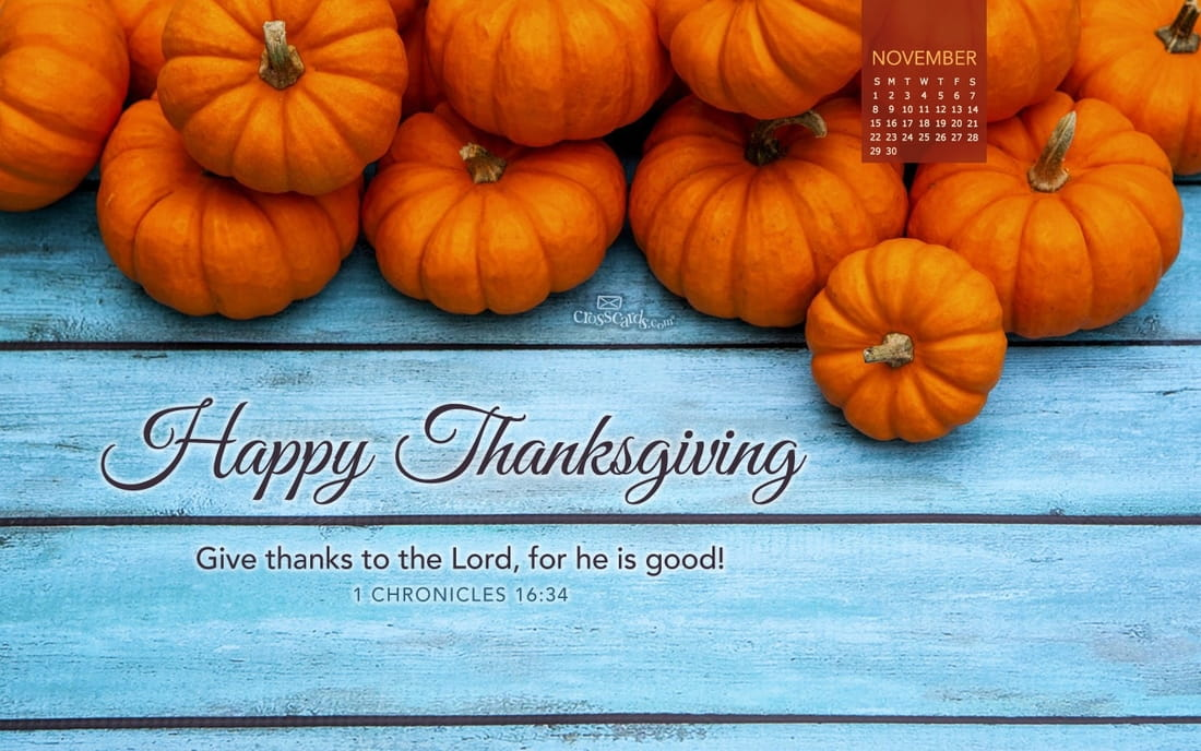 November 2015 - Happy Thanksgiving mobile phone wallpaper