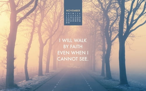 November 2015 - Walk By Faith mobile phone wallpaper