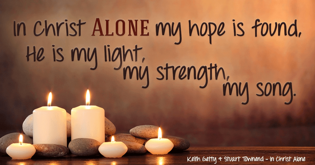 In Christ ALONE I will put my hope! ecard, online card