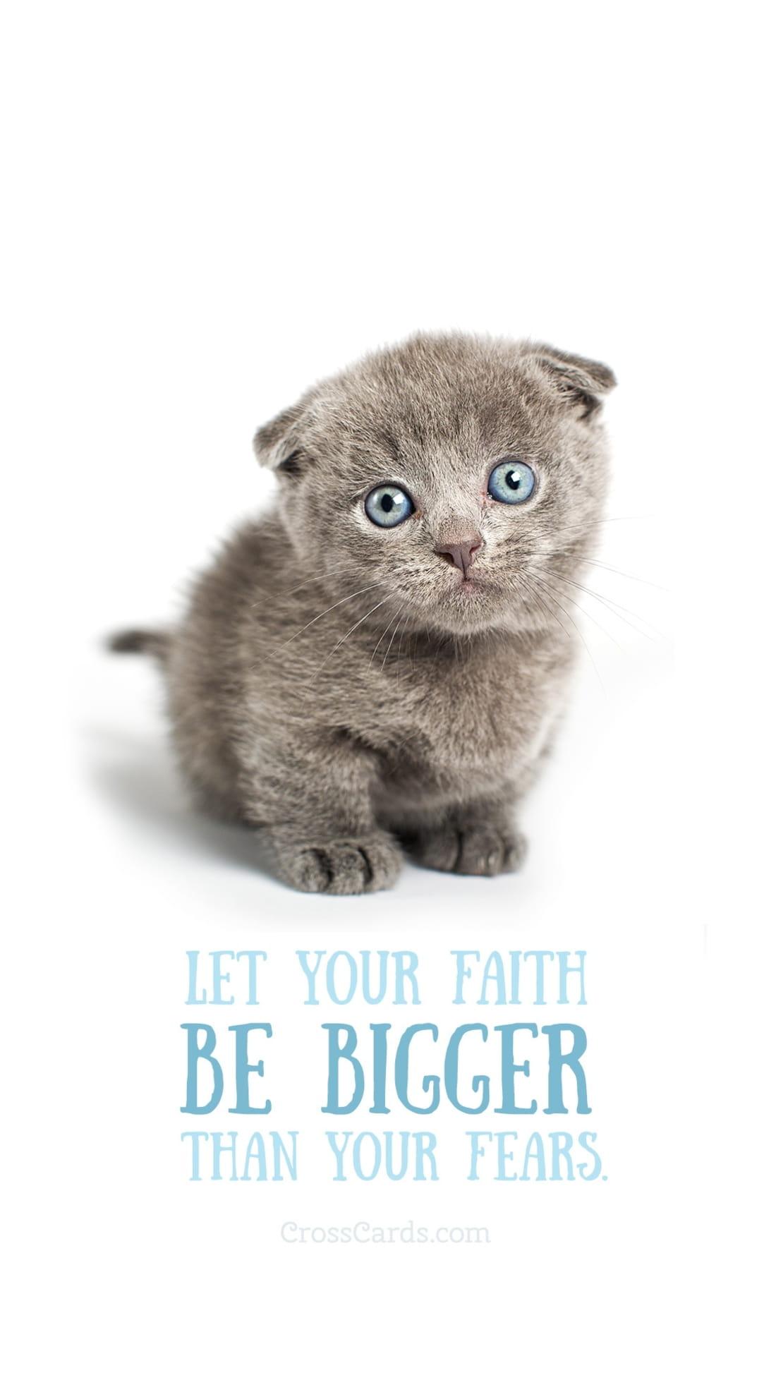 Faith Bigger Than Fear mobile phone wallpaper
