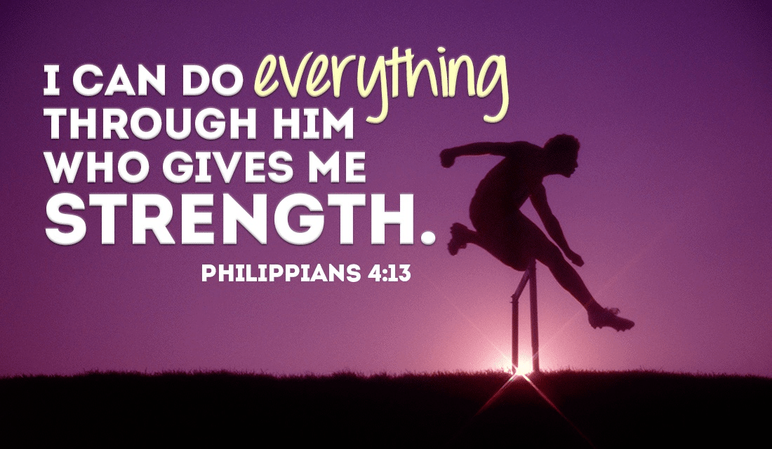 Anything is possible through GOD! - Philippians 4:13 ecard, online card