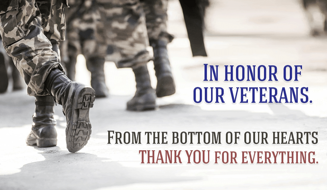 Let's honor our veterans, not just today, but every day. ecard, online card