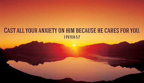 1 Peter 5:7 - Cast all your anxiety on him because he cares f...