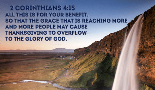 His Grace For Us Is Overwhelmingly Worthy Of Our Thanks