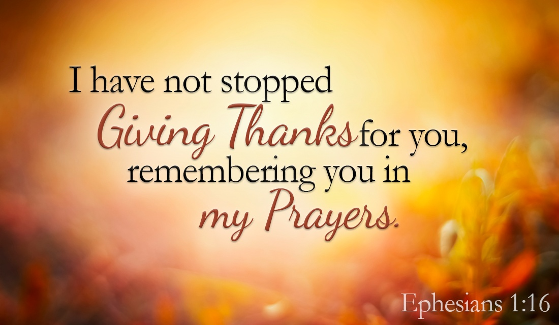 Thank YOU! YOU are precious to me! - Ephesians 1:16 ecard, online card