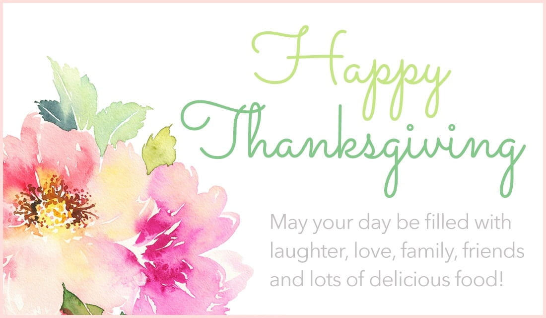 Happy Thanksgiving Watercolors ecard, online card