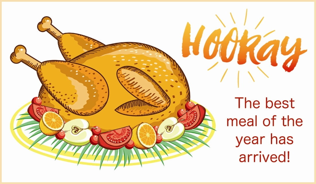 Hooray! Best Meal of the Year ecard, online card