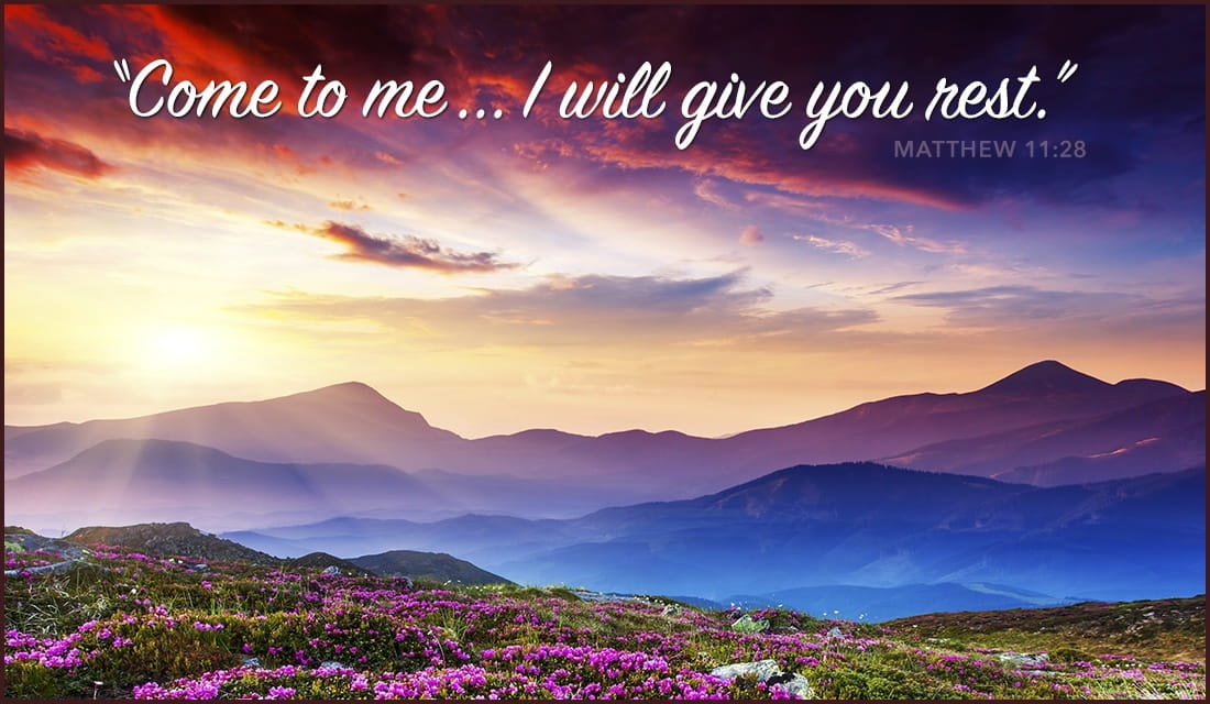 Matthew 11:28 Give You Rest ecard, online card