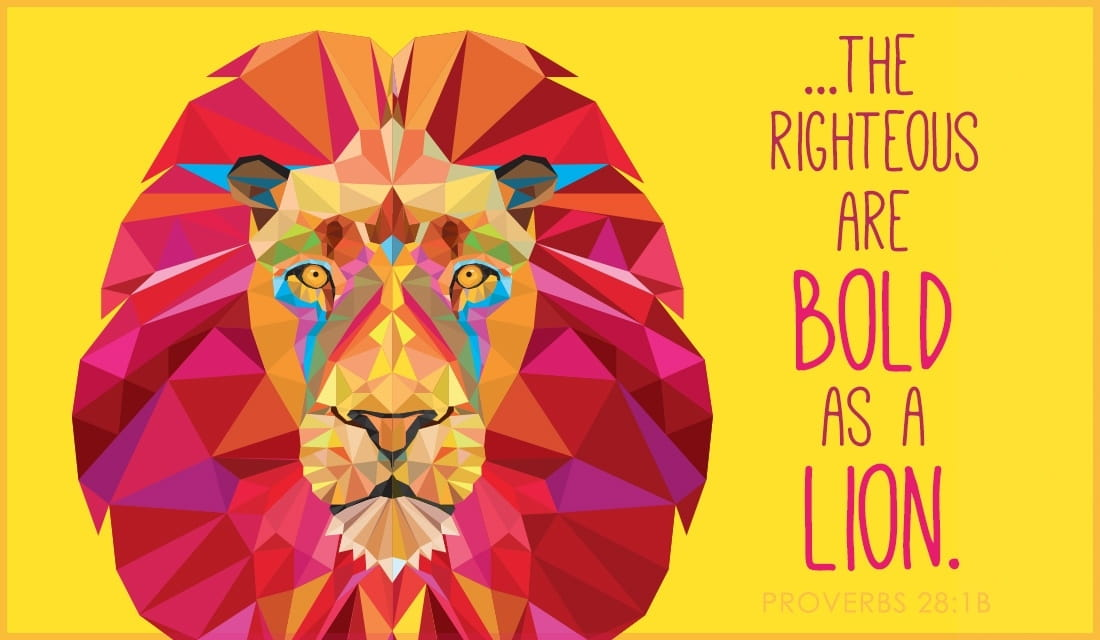 Bold as a Lion - Proverbs 28:1b ecard, online card