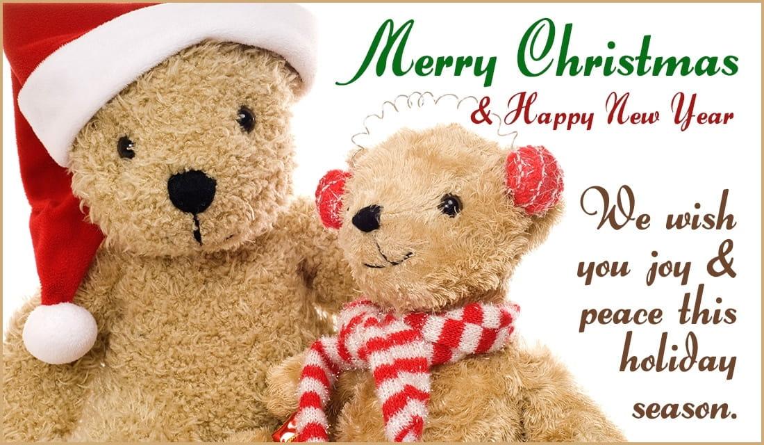Christmas Bears ecard, online card