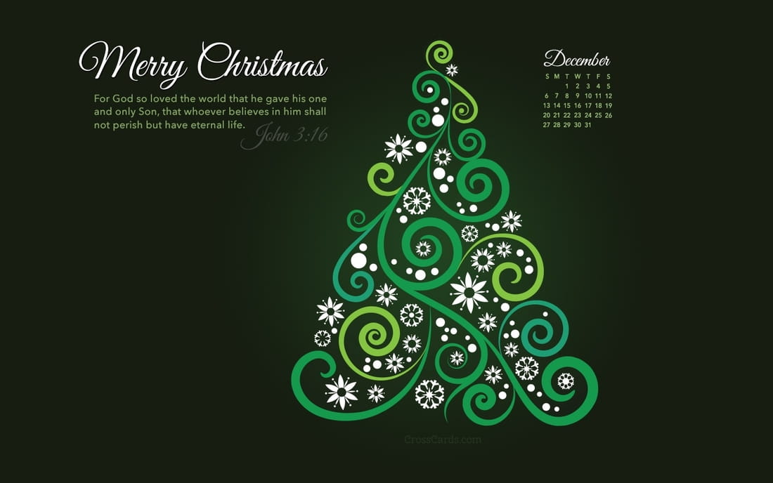 Dress up your computer for the holidays with this free calendar wallpaper!  Also available for