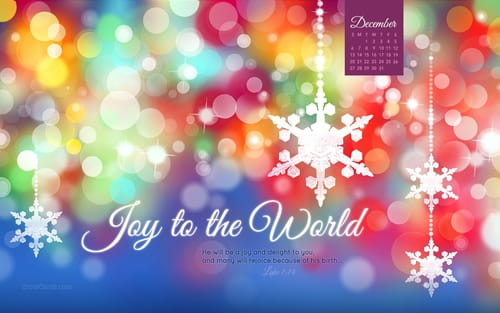 December 2015 - Joy to the World mobile phone wallpaper