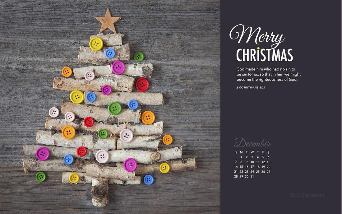December 2015 - Merry Christmas mobile phone wallpaper