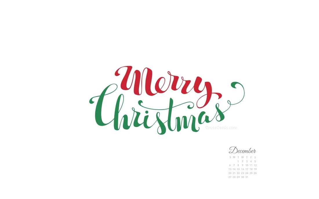 December 2015 - Merry Christmas Handwritten mobile phone wallpaper