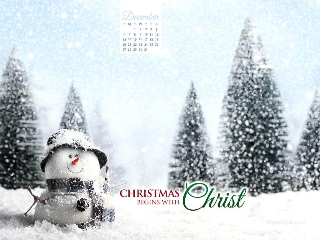 December 2015 - Christmas Begins With Christ Desktop Calendar- Free ...