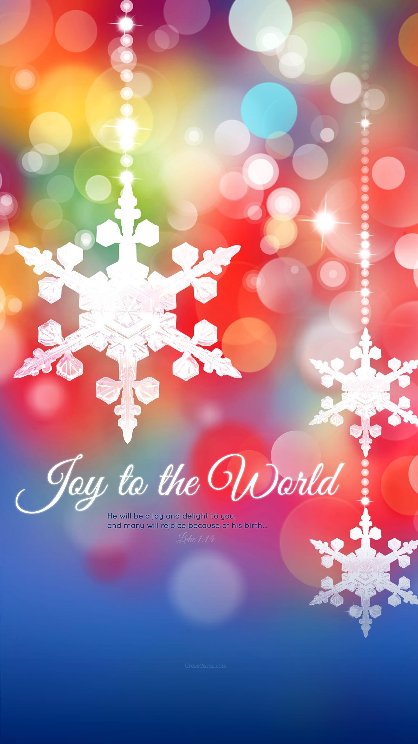 December 2015 Joy To The World Desktop Calendar Free December