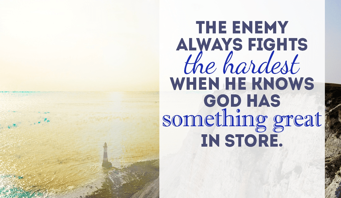 The enemy might fight harder, but will you trust GOD through it all anyway? ecard, online card