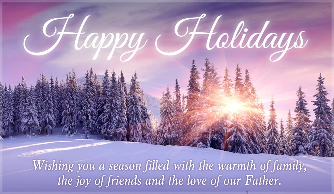 Happy Holidays ecard, online card