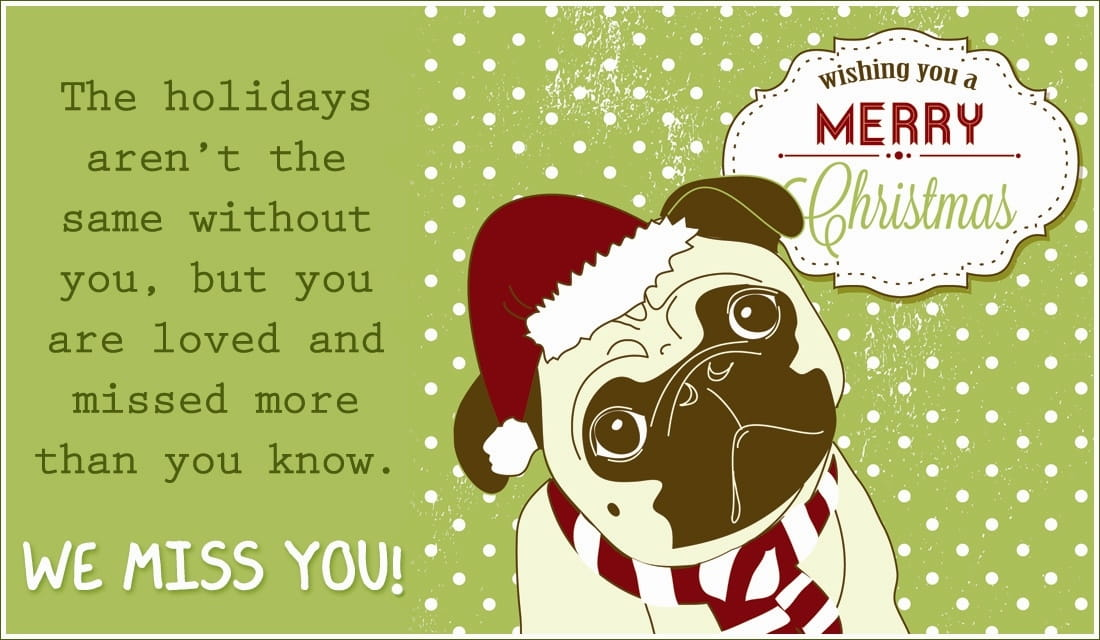 Merry Christmas Miss You eCard - Free Christmas Cards Online