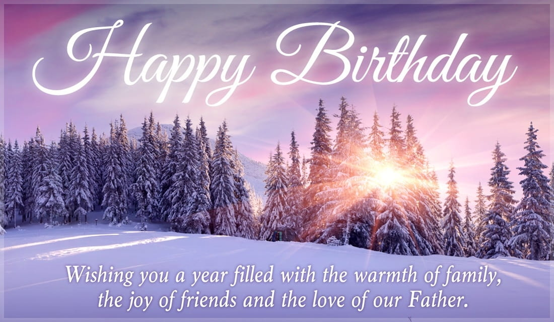 Free Happy Birthday Winter Scene eCard - eMail Free