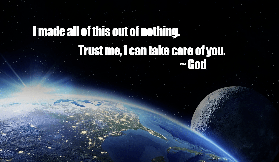 God intricately placed every atom in our universe! Write AMEN if he can take care of you! ecard, online card
