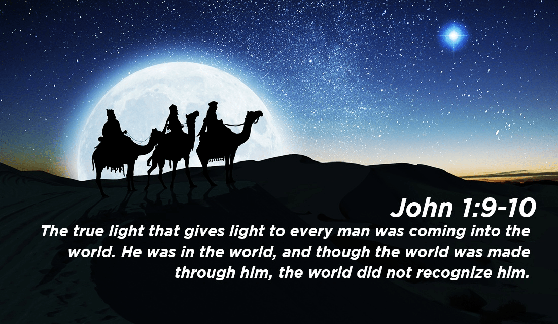 Even though He is our Creator, we did not know Him! - John 1:9-10 ecard, online card