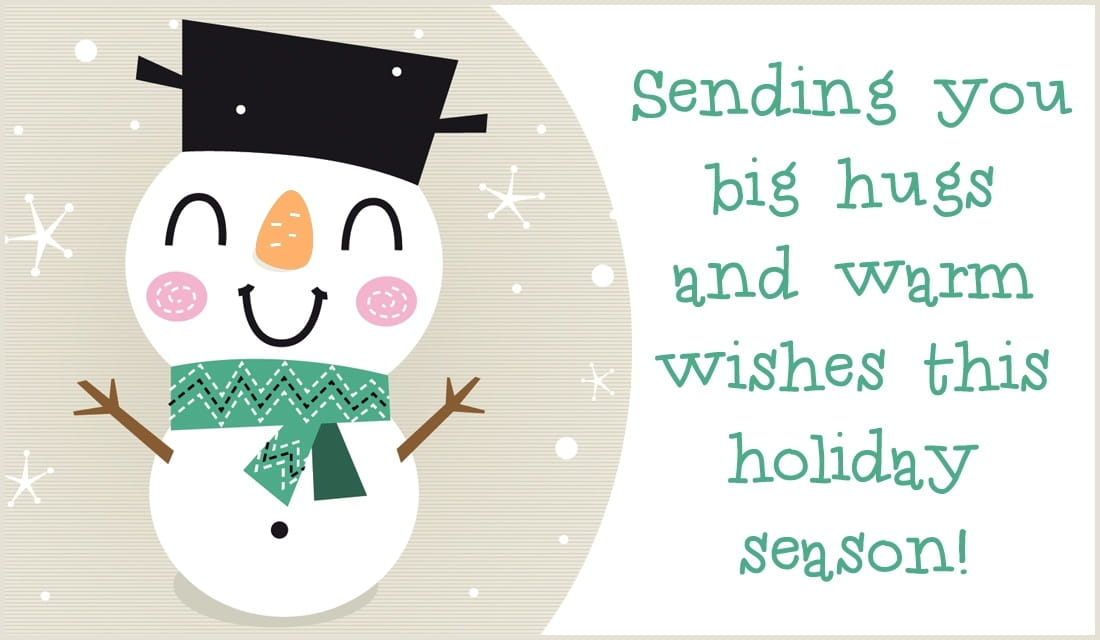 Big Hugs - Warm Wishes ecard, online card