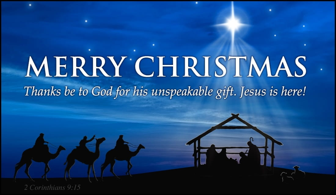 Merry christmas unspeakable gift ecard free christmas - Crosscards free ecards ...