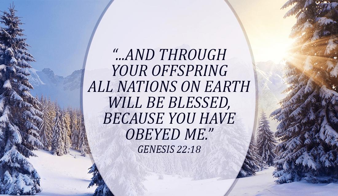 We have been blessed! - Genesis 22:18 ecard, online card